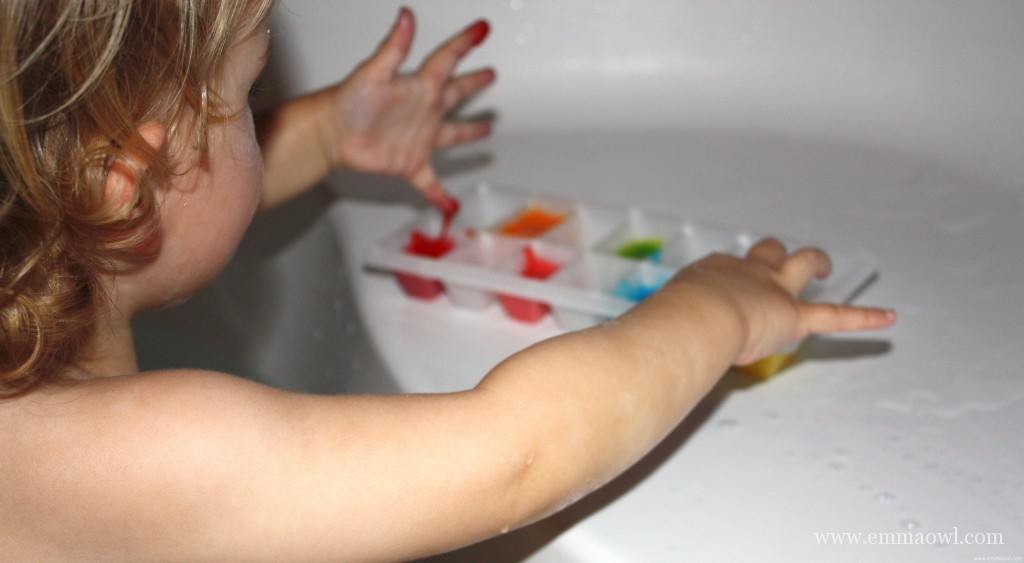 Make your Own Bath Paint for Children. It is so easy, it's fun - and you know what is in it!
