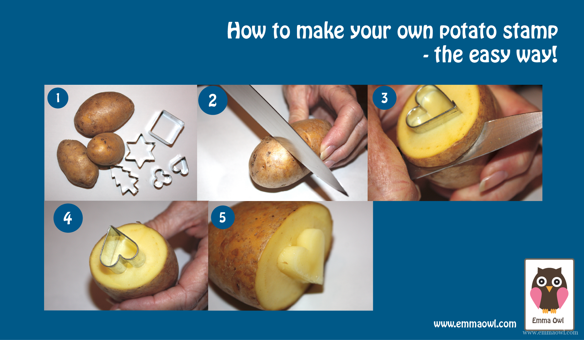 How to make you own potato stamp the easy way for How do you build a blog