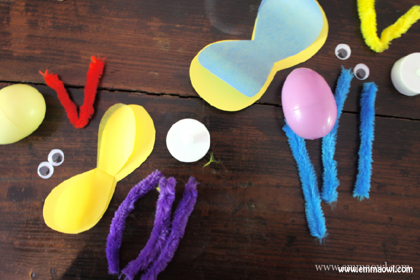 Make your own Fireflies with plastic Easter Eggs. This will light up any day! CHildren's craft bright idea!