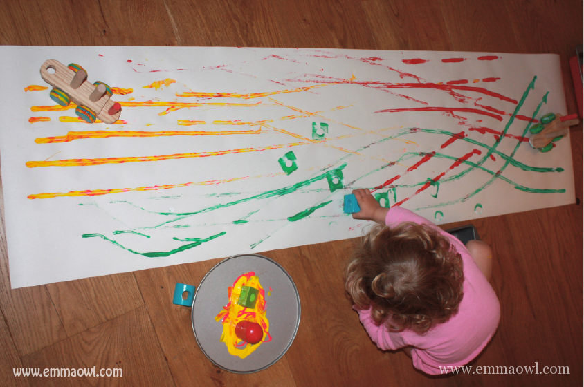 Painting with toy trains-05