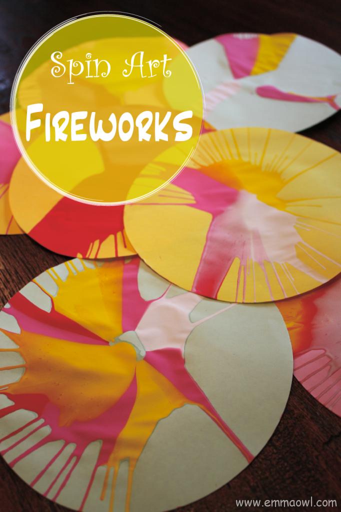 Spin Art Fireworks!
