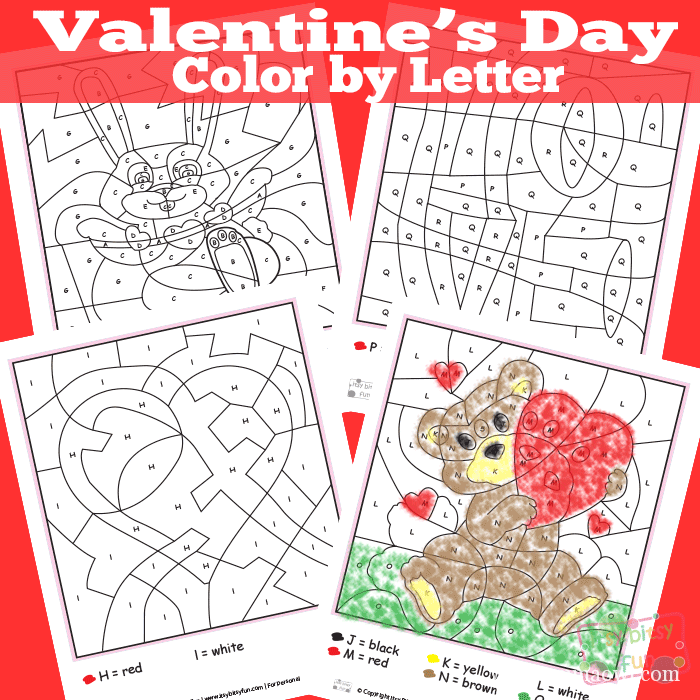 Valentine's Day Color by Letter. What a great learning activity for Valentine's Day Craft!