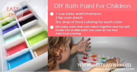DIY Bath Paint for Children - It's fun and you know what's in it!