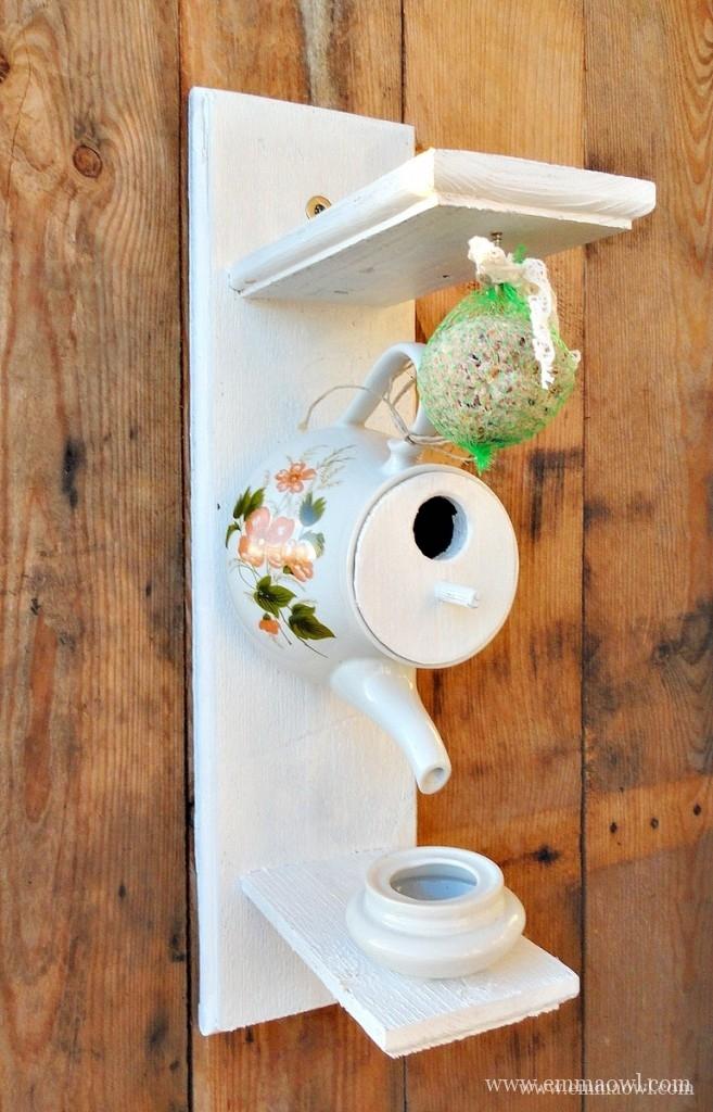A Tea Party For Birds Diy Teapot Bird Feeder And House