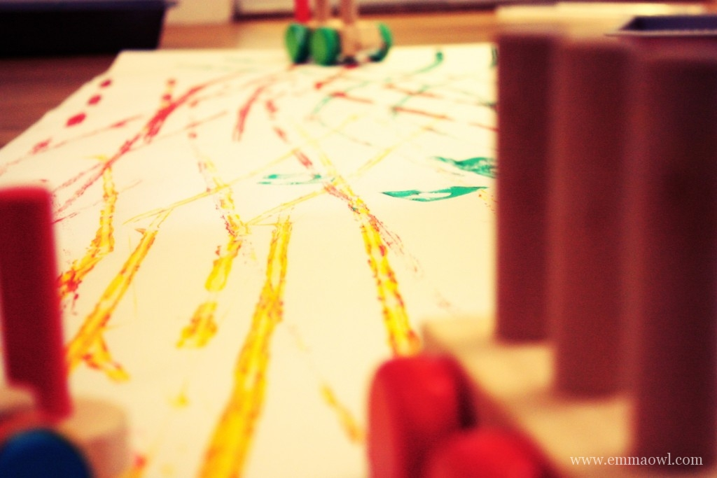 Boys Painting Activity! Paint with Trains
