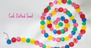 Cork Dotted Snail. Great spiral project for children