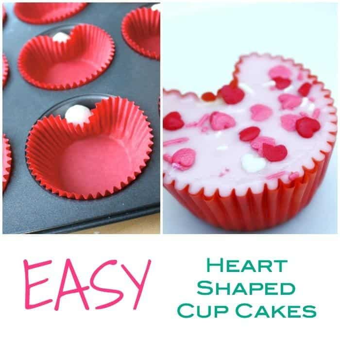 This is the Easiest way to make heart shaped cup cakes, valentines baking made easy