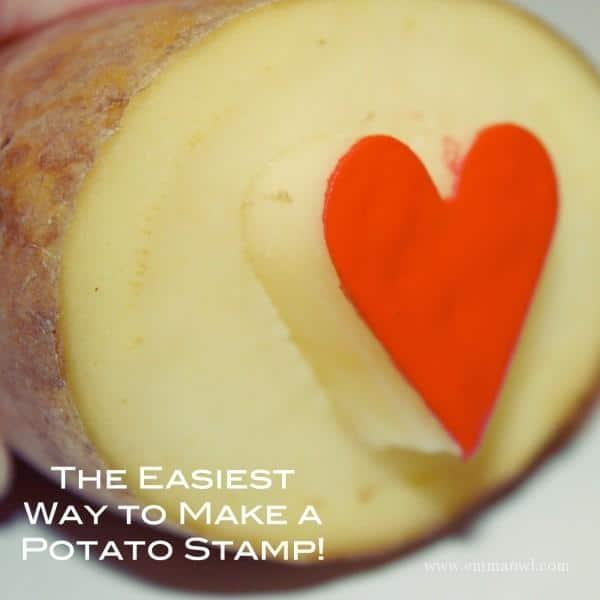 The Easiest way to make a potato stamp