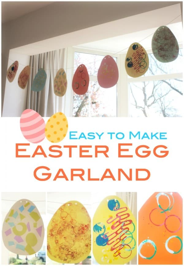 Easy to Make Easter Egg Garland