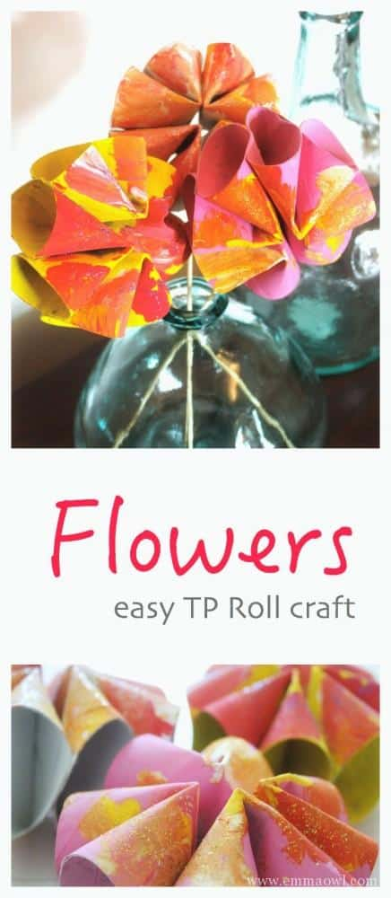 Made from what This easy DiY TP roll flowers make the brightest spring blooms! Great kids craft project