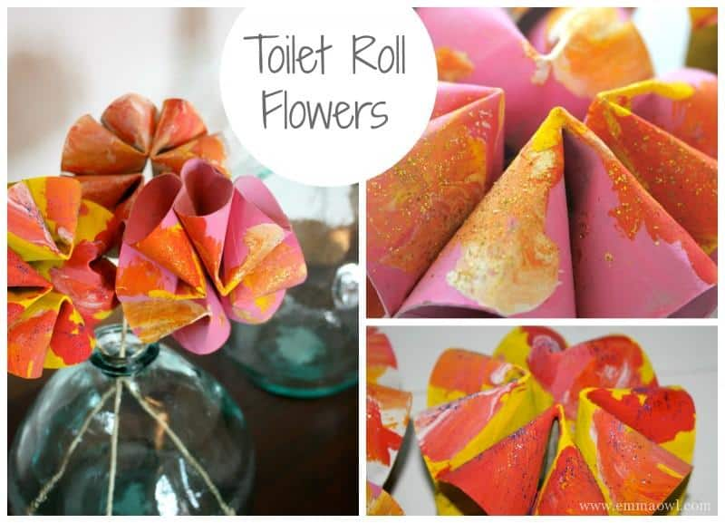 Make your own flowers using the famous toilet roll