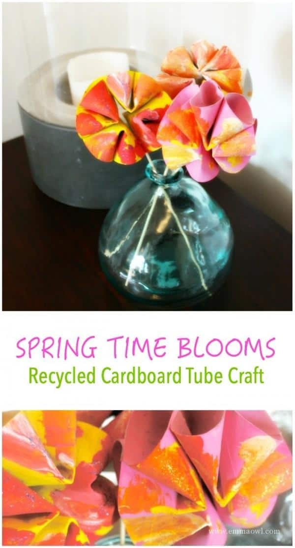 Spring Time Blooms - this is an easy craft made from cardboard tubes! They make such wonderful gifts.