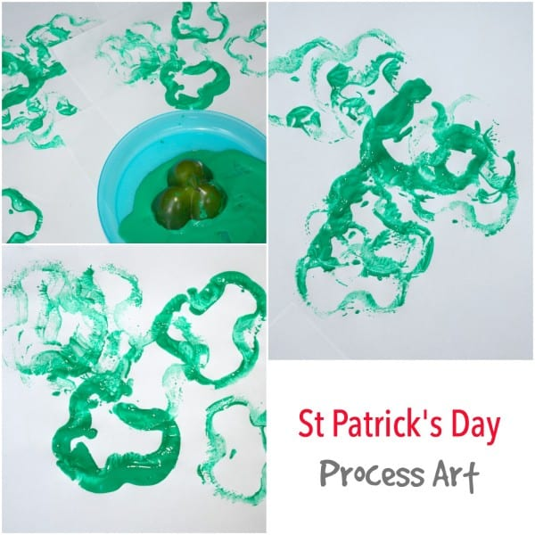 St Patricks Day Process Art project for Children