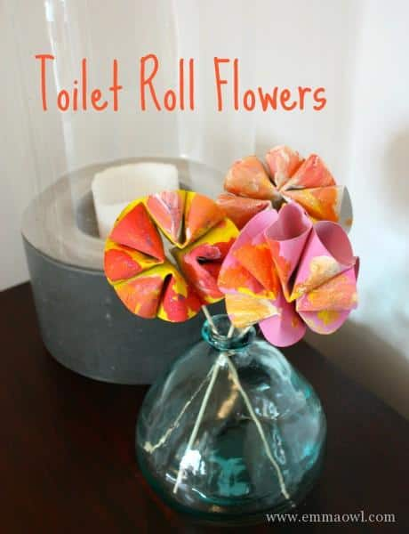Toilet Roll Flowers  Beautiful Childrens Craft