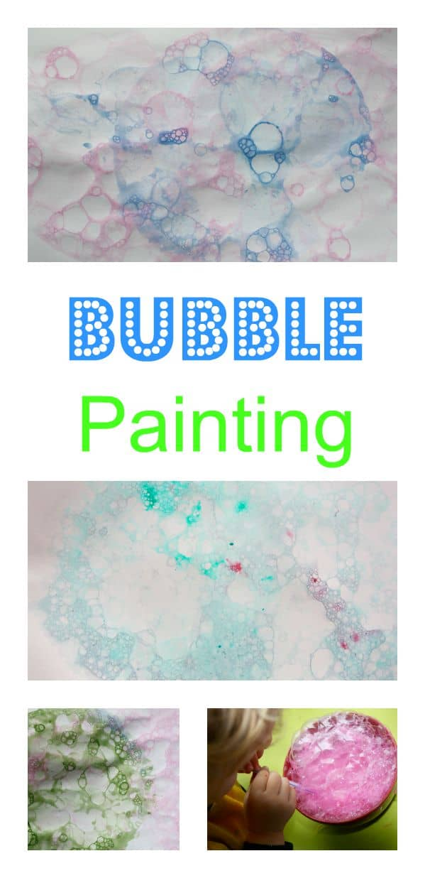 Bubble Painting with children is a great way to experiment with a new painting technique. Children really love this!