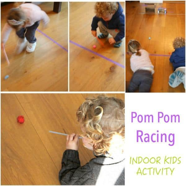 Indoor Kids Activity - Pom Pom Racing