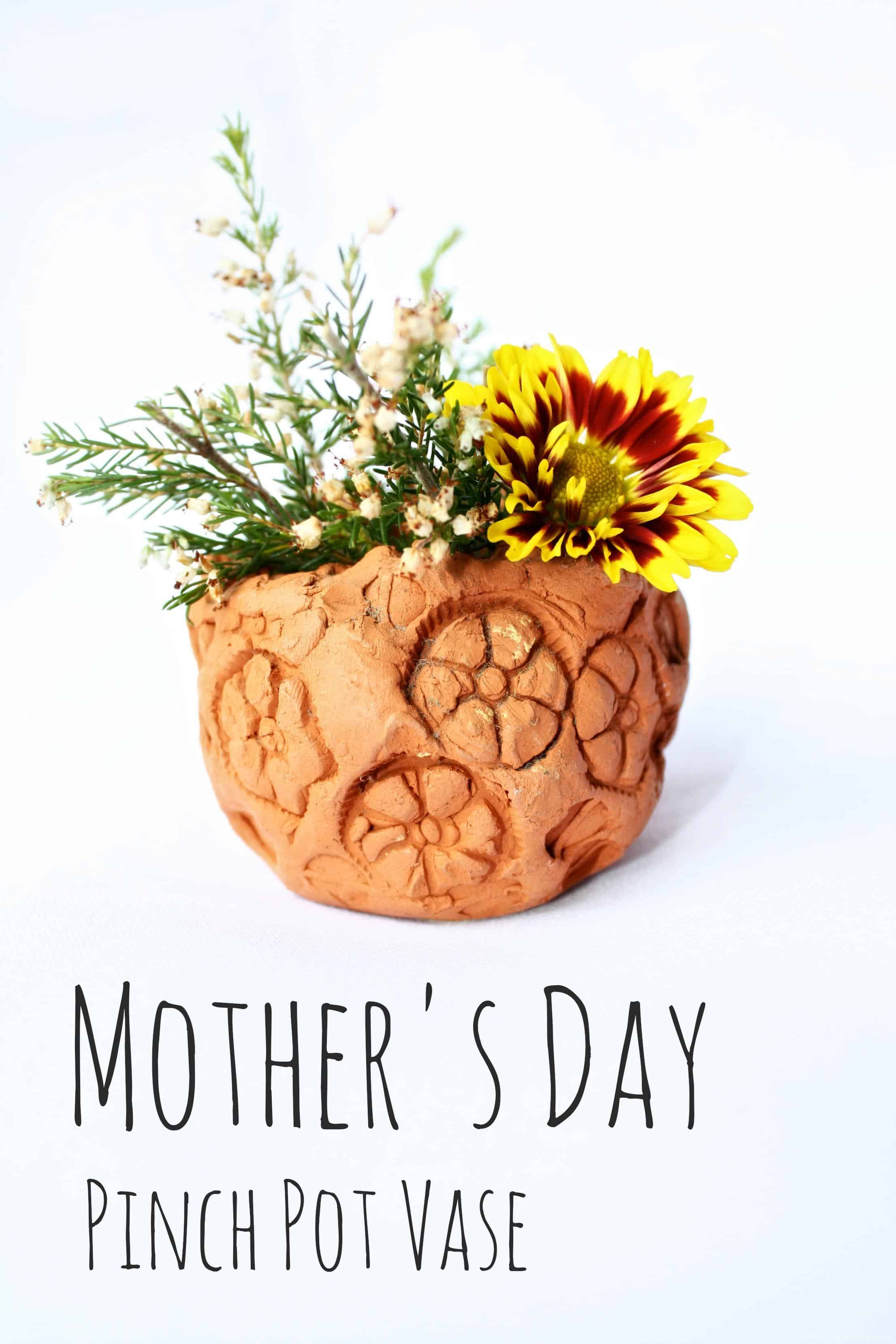 mother u0027s day vase pinch pot emma owl