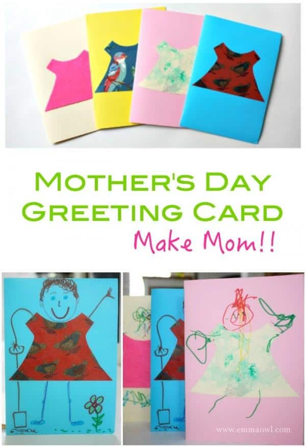 Children love to make their own Moms! This is a cute - and easy little idea for a Mothers Day Card!