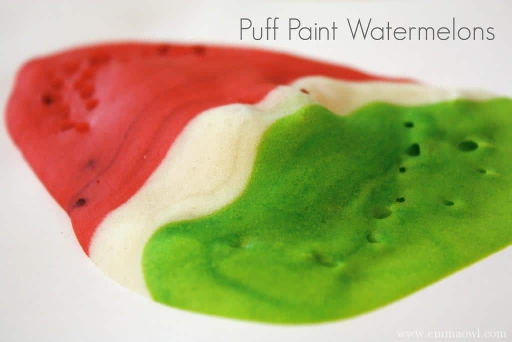DIY Puff Paint Watermelons
