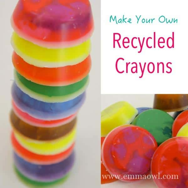 Make your own crayons. Easy recycled crayon DiY