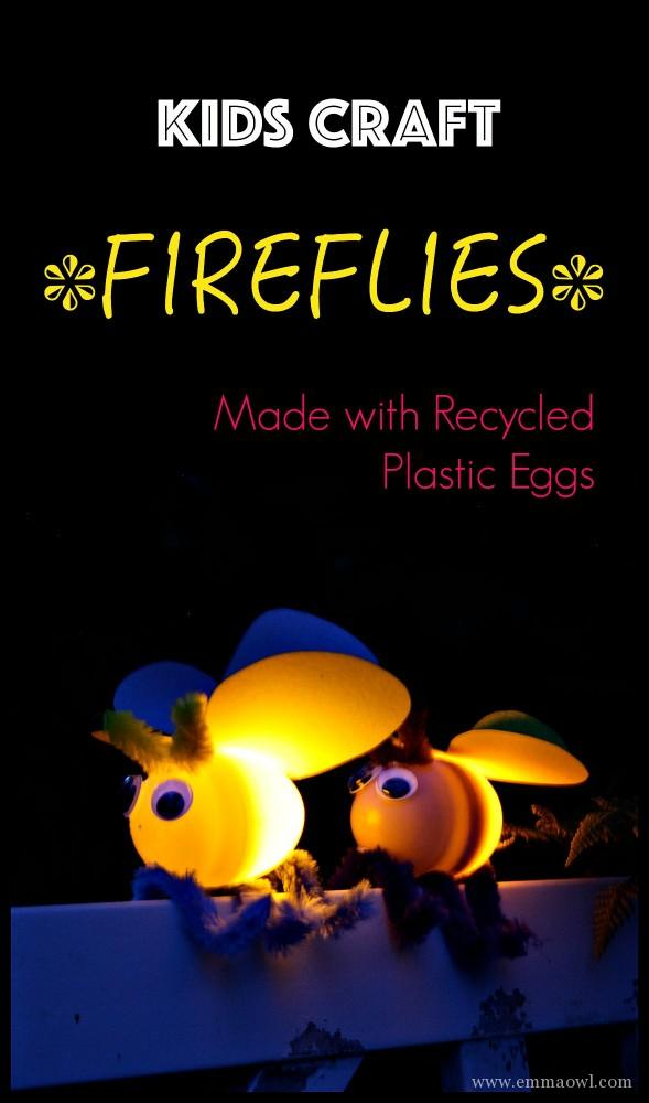 This kids craft will result in smiles and squeals as the fireflies light up. Such a fun summer Craft project!
