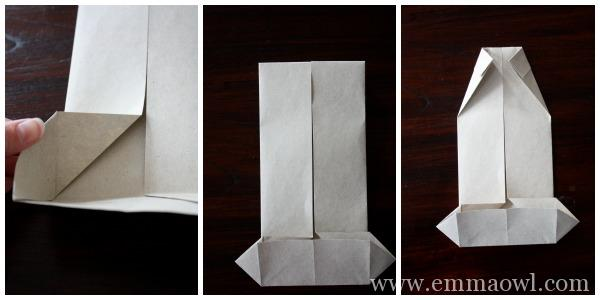 DIY Fathers Day Origami Shirt full photo tutorial