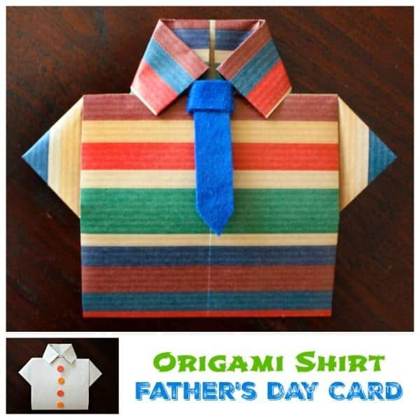 Fathers Day Shirt Origami Card