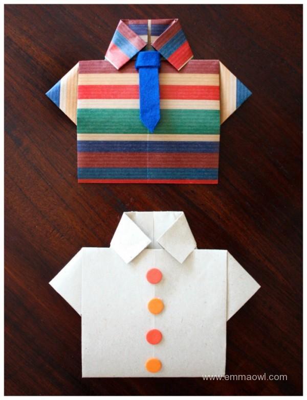 Origami Shirt Fathers Day Card Pelitabangsa