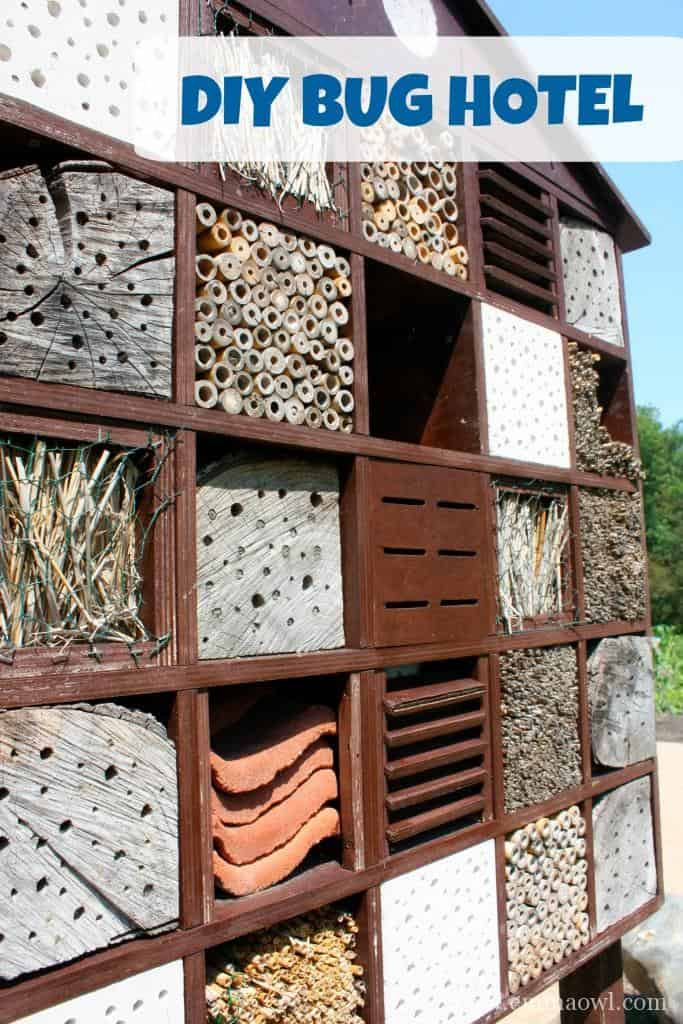Bugs are good for your garden! DIY Bug Hotel