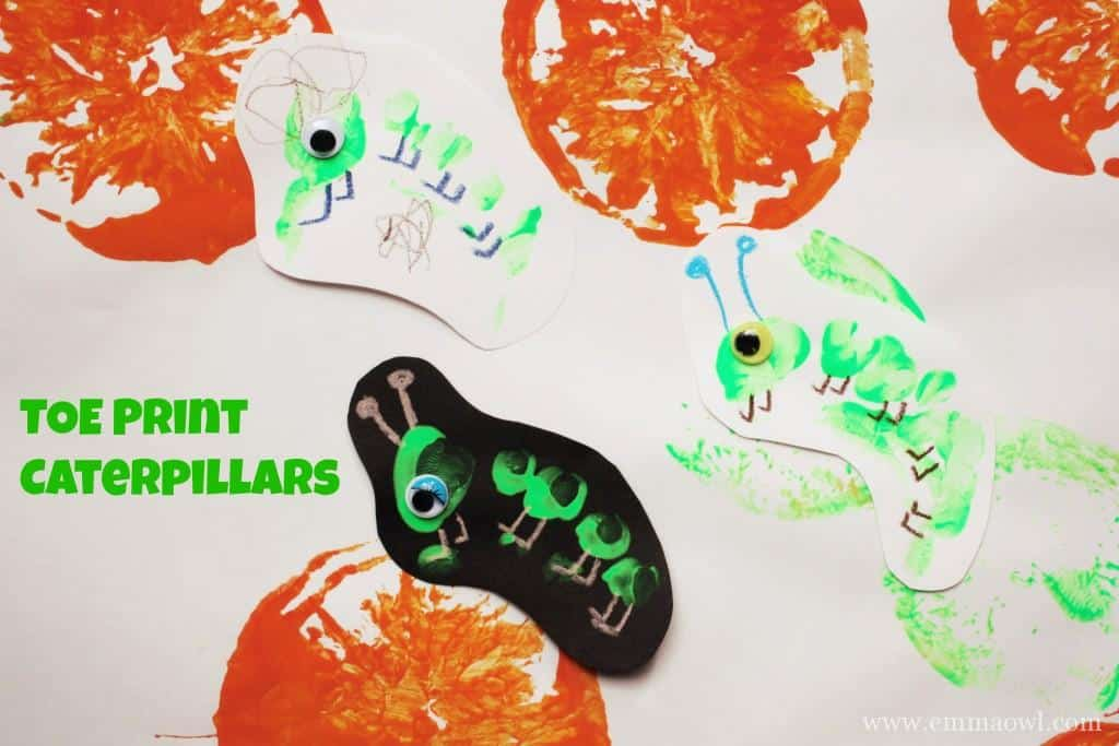 Toe Print Caterpillar, such a cute little activity