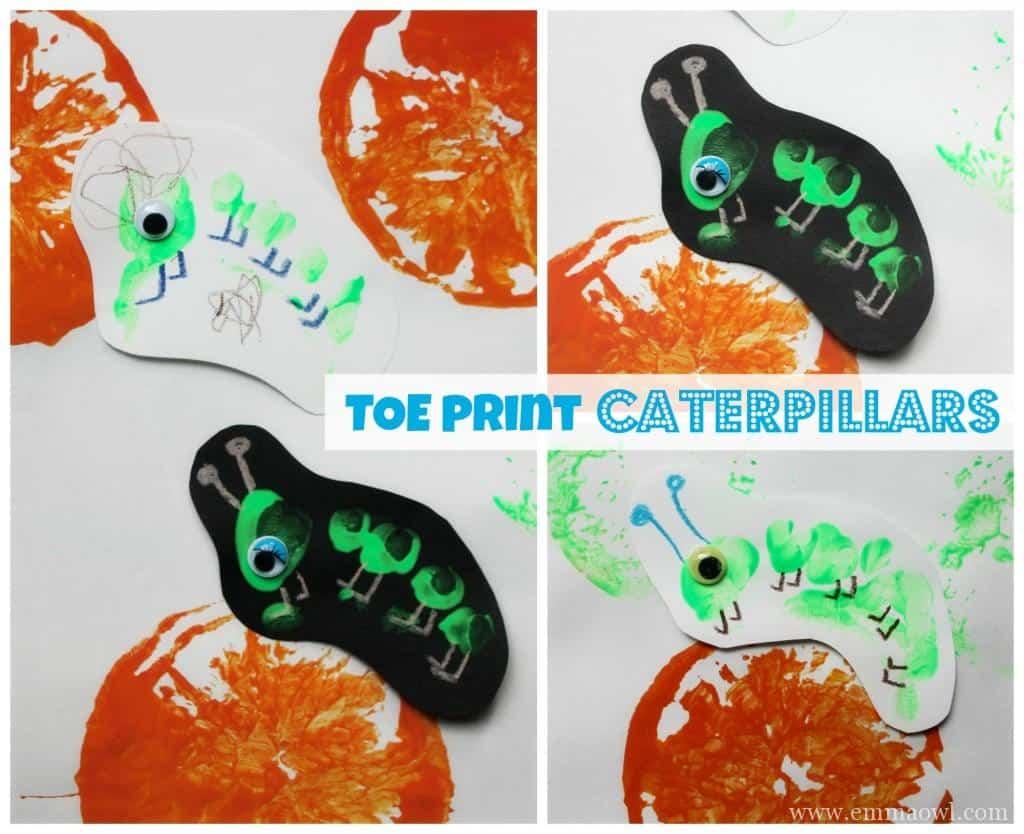 Toe Print Caterpillars