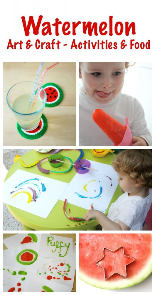 Watermelon Art & Craft, Play Activities & Food Ideas and Inspiration