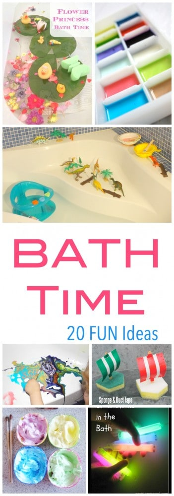 20 Fun Ideas to turn bath time into a fun kids activity - all while washing!!