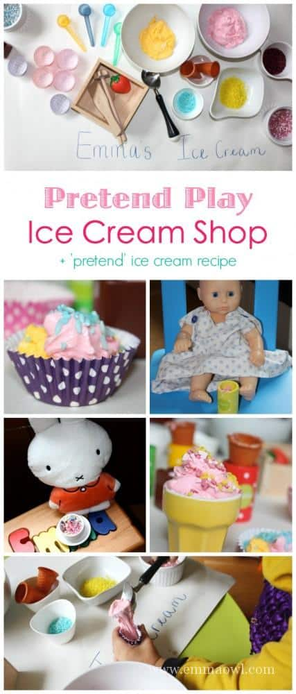A wonderful pretend play activity. This post includes the recipe for this wonderful pretend play recipe