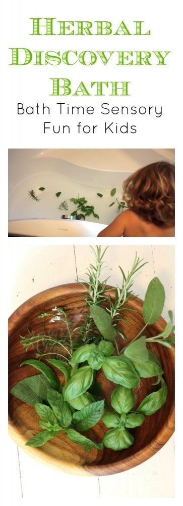 Herbal Discovery Bath Time Sensory Fun for Children! They will love this bath experience - and so will you!