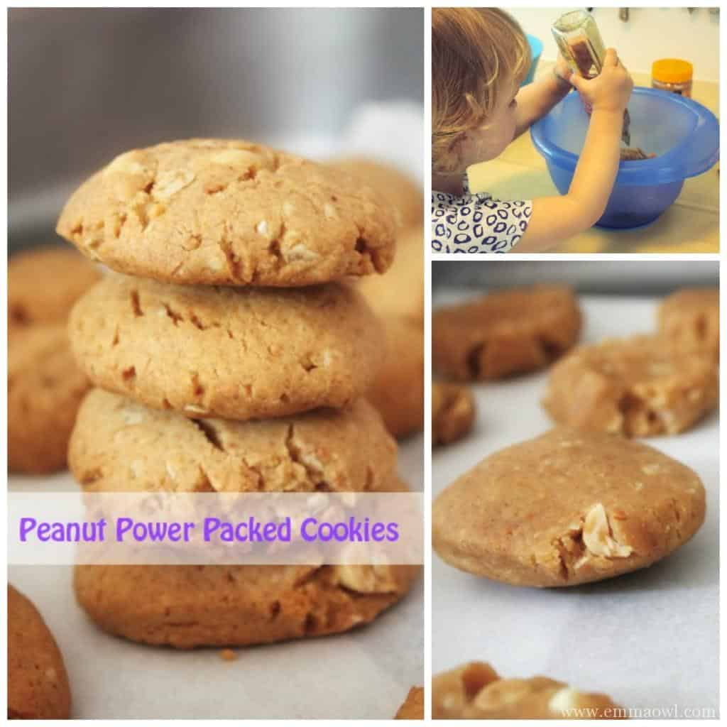 Power packed peanut packed cookies
