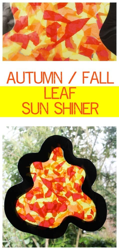 Kids Craft for Autumn. Great Little project to make - it will brighten up any window!!