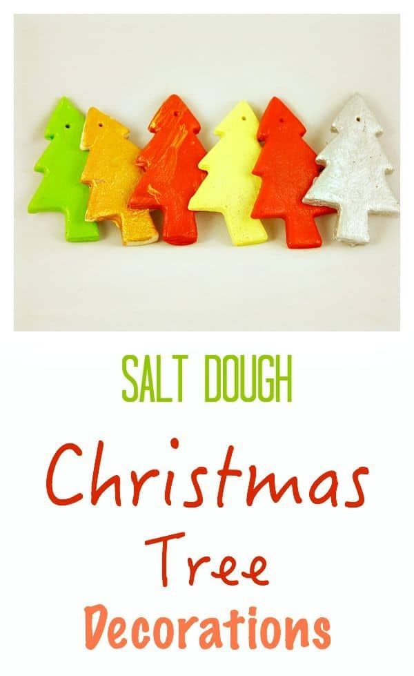 Easy to Make Salt Dough Christmas Tree decorations. A fun craft activity for children to do - these also make fantastic gifts!