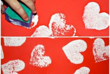 Valentine's Day Sponge Printing
