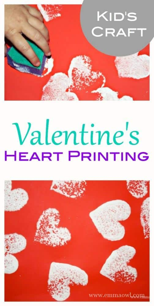 Process Art for Children made easy with this simple - yet wonderful - Valentines Day Heart Printing Craft Activity