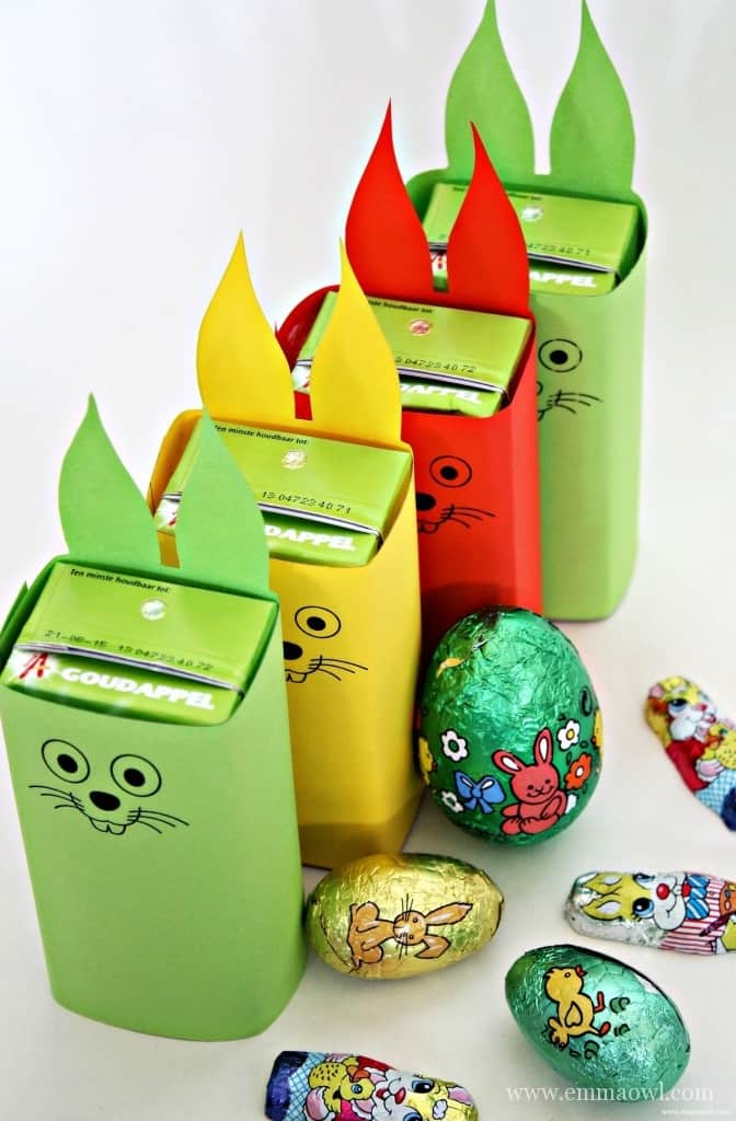 Easter Bunny Juice Box Holders Free Printables.