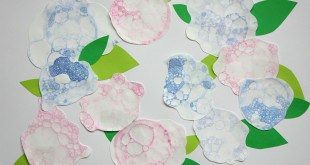 Hydrangeas Bubble Blowing Painting