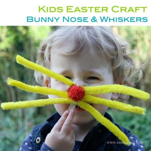 Kids Easter Craft - Bunny Nose and Whiskers