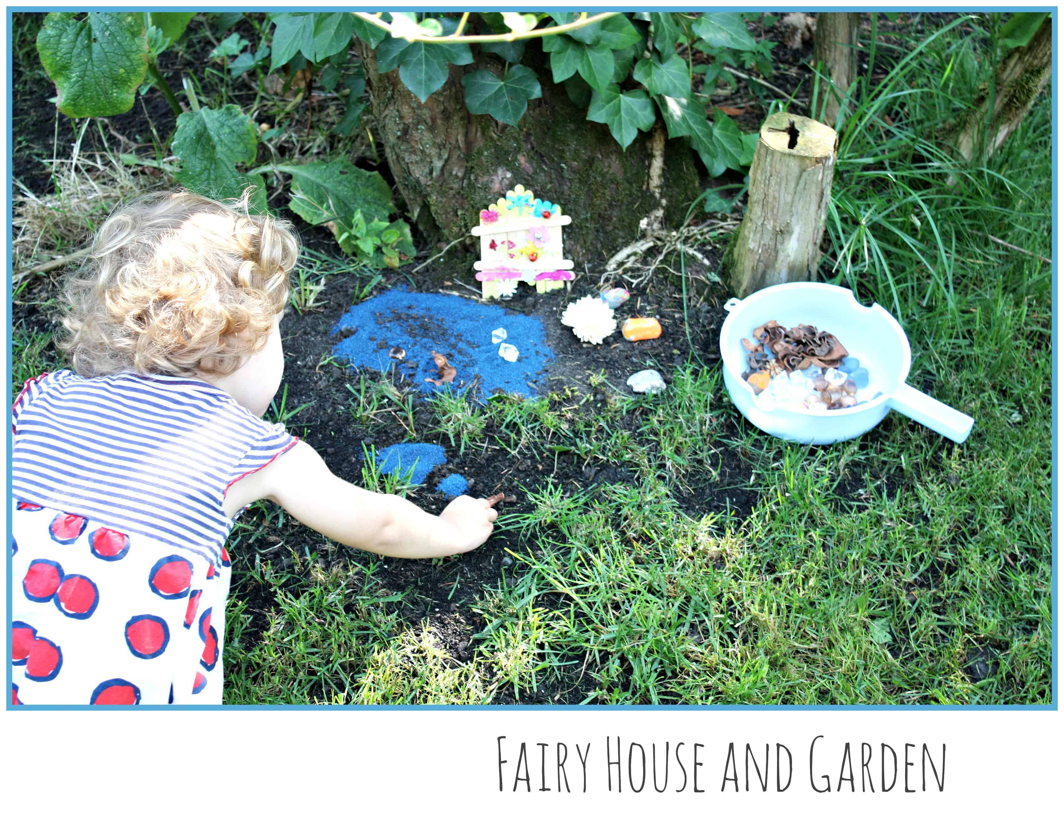 Fairy house and garden imaginative play emma owl for Diy fairy house door