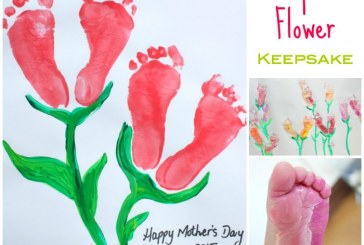 Mother's Day Footprint Flower Keepsake
