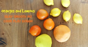 Oranges and Lemons. Silky Smooth No Cook Play dough