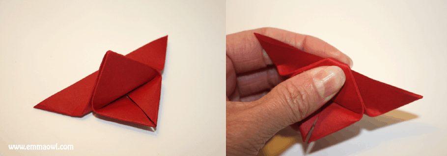 Step By Instructions For Watercolor Origami Butterflies