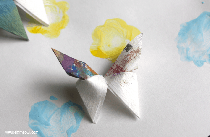 How to Make Origami Butterflies with coffee Filter Paper