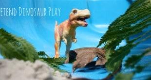 Pretend Dinosaur Play. Great imaginative time!