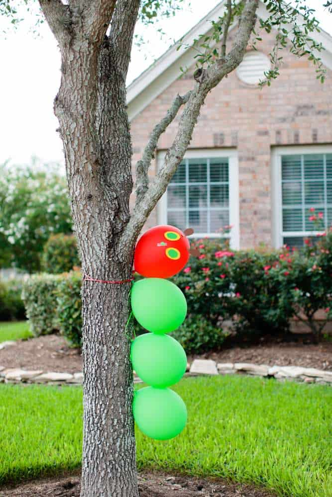 Very Hungry Caterpillar ON a tree, decoration idea